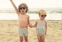 By the seaside / Bold stripes, straw, canvas, swim, knit