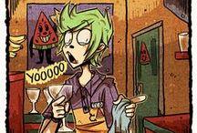 Z-TØØN / Z-Tøøn is just my favorite artist, I'm glad to enjoy her comics and artworks!!!