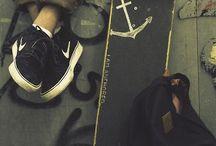 skateboarding/longboarding