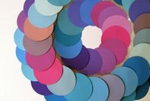Paint chips -- they aren't just for eating anymore! / Sample colors and cards turned into wonderful cool stuff. Paint samples, paint cards, paint chips -- call them what you want, but they can be lots of things if you get a little crafty!