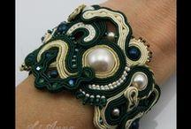 Bracelet LiAnna Soutache Jewellery sutasz / www.lianna.blox.pl #sutasz  #soutache  #jewelry #biżuteria #biżuteria ślubna / by Anna Lipowska LiAnna