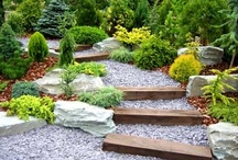 Landscaping steps / Welcome to Dream Yard's Pinterest board for landscape stairs. We have lots of pictures of stairs built with all kinds of materials from stone slab steps, to manufactured landscaping blocks, landscape bricks, flagstone, and railway ties. We hope you find some great ideas for your dream yard. Thanks for visiting us and we hope you get to check out some of our other boards. / by dreamyard