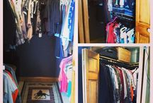closet redesign / My winter 2013 project was to remove everything from our master closet as well as from another bedroom in our home. I painted the inside of both closets and we reorganized them; allowing for more space and structure. We redesigned both of them for approximately $200.00. I love how they both turned out! / by Emily Kiel
