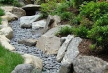 Dry creek bed / Welcome to Dream Yard's Pinterest board for dry creek bed ideas. River rock landscaping is a great way to control the flow of heavy rains and drainage problems around your yard. Thanks for visiting us and we hope you check out our other landscaping boards.  / by dreamyard
