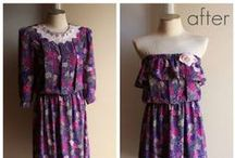 refashion old clothes / refashion, re-style, remake, fix, clothing, sewing