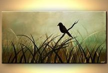 Strokes / Painting, painting ideas, DIY art, art instructions, brush strokes