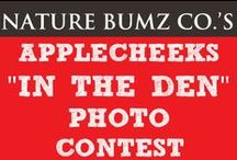 """AppleCheeks """"In the Den"""" Photo Contest Giveaway! / For more information visit here : http://blog.naturebumz.com/applecheeks-den-photo-contest-giveaway/  Spread a little AppleCheek love with their appearance on CBC's Dragon's Den January 18th: http://www.cbc.ca/dragonsden/"""