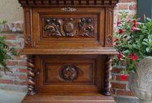 Antique BARLEY TWIST -French & English / Antique European Barley twist furniture!