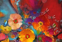 Art: Abstract & Colorful / by Lea Kingsbury