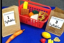 PA - Syllables / Fun ideas for teaching phonemic awareness in young students.