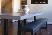 Custom Concrete Kitchen & Dining Tables   Trueform Concrete / Searching for the perfect concrete table to spice up your space? Then a concrete table is the perfect solution. Concrete, being fully customizable proves a great alternative to wood or stone. Providing a surface for you kitchen or dining table, coffee table and  end table, outdoor patio table, console table, conference room table, office desk, or reception desk. In addition to your concrete table, Trueform Concrete can also have your metal or wood table base fabricated for you.
