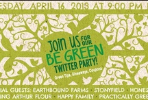 #BeGreen Earth Month Celebration  / In honor of Earth Month, we're starting a chat about all things green! Join us for a #BeGreen Twitter party on Tuesday, April 16th from 9-10pm EST. We are honored to have a great group of panelists, who are also like-minded green supporters! Pins are all things green. / by Practically Green