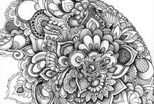 Art: Zentangles / Zentangles drawings and ideas.  / by Lea Kingsbury