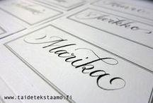 Envelope lettering