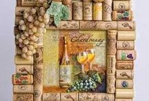 Crafts: Wine Corks, Labels, Bottles, Glasses / by Lucia  Kaiser / Design by Lucia