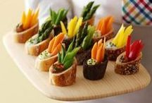 Party Food and Decor / Ideas for food to serve at a party / by Angela Roberts-Spinach Tiger