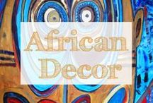 Tribal Art and African Decor / Looking for the most fabulous African Art? These global home decor items have the earth tone colors, tribal touch and sophistication you want. From modern contemporary wall art to throw pillows and bedding. follow this board for African Art, tribal art and African decor