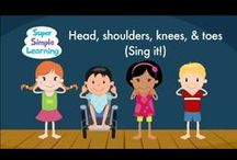 Teach Parts of the Body / One of our favorite teaching topics!! Practice body parts with songs, videos, books and games. Perfect for preschool, kindergarten, ESL or EFL learners. / by Super Simple Songs