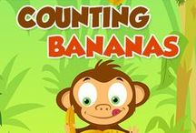 Monkey songs, books and crafts / Do you love monkeys? Us, too! Especially the Five Little Monkeys Jumping On The Bed.  Get flashcards, books, kids' videos, and more monkey stuff.