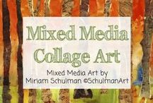 Mixed Media Collage Art / art | collage | mixed media | art for sale | mixed media art | collage art | original art | mixed media collage | Mixed Media Art by Miriam Schulman ©SchulmanArt