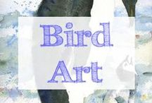 Bird Art / Bird art featuring penguins, owls, flamingos, egrets, swans, chickens and more | chicken | penguins | penguin | peacock | birds | ducks | duck | bird | chickens | watercolor | peacocks | bird drawing | mixed media | bird drawings | bird paintings | animal art | bird art | peacock art