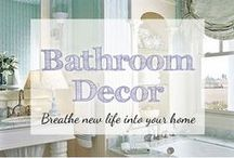 Bathroom Decorating Ideas / Looking for bathroom decor? Check out inspiring bathroom ideas like pretty bathroom shower curtains and other bath decor