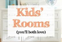 Kids' Room Ideas / Get inspiration for decorating your childrens' rooms! Lots of kids' decorating ideas whether decorating your boys room or a girls bedroom