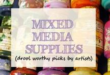 mixed media art supplies / Hey friends ! Pin your favorite washi tape, rubons, letter or word stickers ! Always looking for the next cutest mixed media supply!