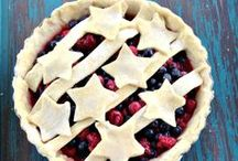 Summer Food / Food you make in summertime, featuring summer fruits and vegetables, barbecues, pies, picnic food, etc.