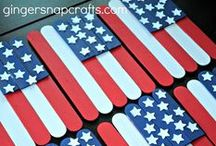 The 4th of July (Independence Day) / Red, white, and blue! Independence Day is an American  holiday associated with fireworks and the American flag. Celebrate with fun crafts and decorations!