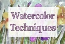 Watercolor Techniques / watercolor | watercolors | how to paint | watercolor techniques | painting techniques | painting classes | art techniques | online art classes | painting class | watercolor tutorial | watercolor technique | watercolor techniques for beginners