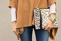Fall fashion trends / Rich colors, warm layers, bold handbags, luxurious accessories