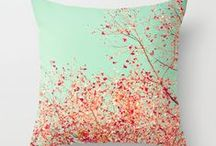 I have a thing for PILLOWS / fun funky pillows are kind of a passion of mine / by Shannon Mamangun