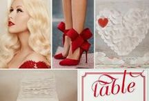 Red Weddings / Red is the color of romance so red weddings definitely evoke a sense of romance and passion. Whether the primary color in your wedding color palette or teamed with other hues, the boldness of red will make guests take notice.