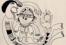 DIBUJOS & ILUSTRACIONES - DRAWINGS & ILLUSTRATIONS / + http://pnitas.es/en/portfolio-group/sobre-papel/