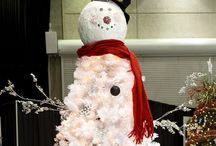 2013 Holiday Inspirations-SNOWMEN / This year we are inspired by everything WHITE...white lights...white tree...lots of Snowmen ;). Accent colors are classic Red and BLACK!