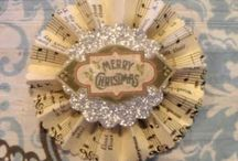 Christmas ORNAMENTS / Handmade or gathered together by theme...all ornaments welcome.