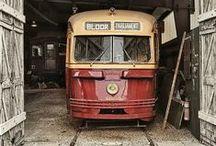 streetcars / Trams, streetcars and trolleys.