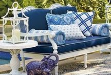 Rhapsody In Blue / Blue is having a moment. The spectrum's coolest color is suddenly hot. Rich indigo against snowy white lifts our spirits. And the hue of the sky is a backdrop for bracing touches of China blue. Explore the outdoor trend and get inspired to recreate your own gorgeous room with a view.