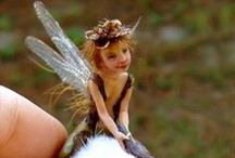 """Elves: Winged Fairies / If you know """"Hedge Games"""", you know how much I love ther character of Kankalin - all brazen & brave 10 centimeters of her :) Here's her friends - all fae with wings"""