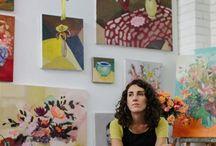 art spaces / artist workspaces, sketchbooks, spaces with art
