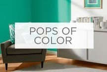 Pops of Color / In big or small spaces, bold colors and patterns can make a big impact.  / by Valspar