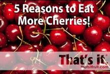 That's it Fruit - Cherries / Super tart or sweet, Cherries are an excellent source of antioxidants! http://www.thatsitfruit.com / by That's it.