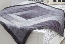 Knit and Crochet Blankets / Get cozy under the perfect afghan for you! Make one of the Red Heart afghan patterns, or get ideas to make your own!