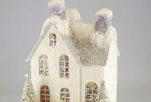 Christmas Glitter Houses