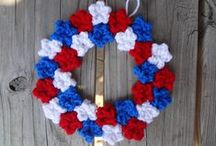 Wreaths / Seasonal decoration is a snap with wreaths for Christmas, Halloween, Valentine's Day and more!  / by Red Heart Yarns