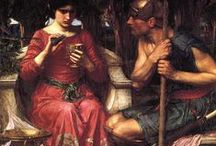 Pre-Raphaelites / Inspiration for a yarn club - the paintings, the words, the spirit of the Pre Raphaelites and how it could be an inspiration of Medieval Romanticism in the present day.