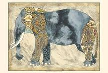 Elephant Art Prints / A collection of realistic, abstract and photography art prints of elephants.  / by Bandaged Ear