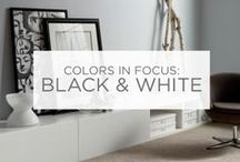 Colors in Focus: Black & White / Contemporary, bold and chic. The classic combination of black and white can make a powerful impact. / by Valspar