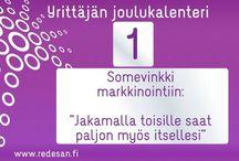 Yrittäjän joulukalenteri / Innostavaa joulun odotusta